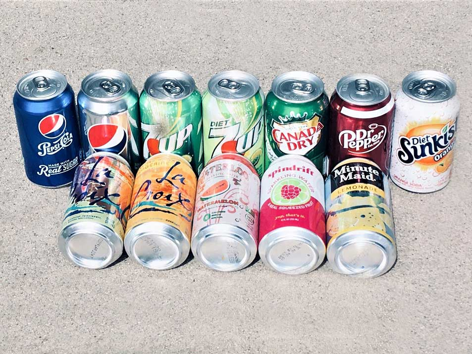 Assorted Cans of Soda